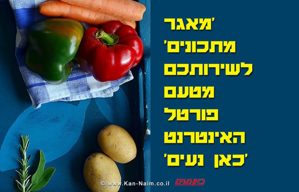 מתכונים - מאגר מטעם פורטל האינטרנט 'כאן ישראל'   'כאן נעים'
