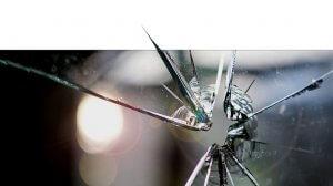 יריה שפגעה בזכוכית | עיבוד צילום: שולי סונגו