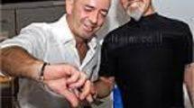 """השף-סלב' ישראל אהרוני עם ברטו מוהדב, מנכ""""ל מטבחי סמל"""