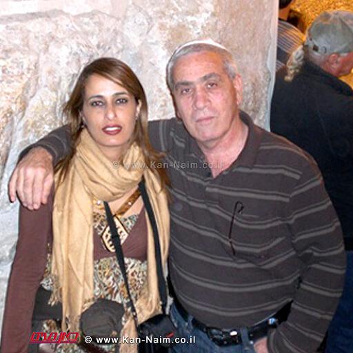 בני הזוג בוקר נאוה ובעלה ליאור שנספה באסון השריפה ב-כרמל מבקרים לפני האסון באחד מקברי הצדיקים | עיבוד צילום: שולי סונגו©
