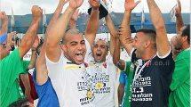 """דורגלני בני """"פלפלה"""" כפר-קאסם בכדורגל חופים הזוכים לראשונה מהמגזר הערבי בתולדות המדינה באליפות"""