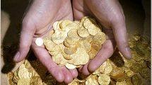 אוצר מטבעות הזהב הגדול ביותר בארץ נחשף בנמל העתיק קיסריה