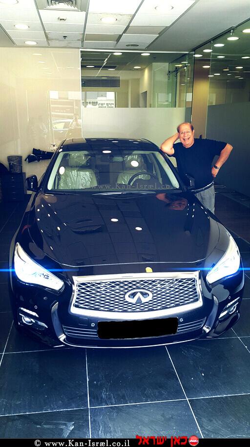 שייקה לוי מתחדש ברכב אינפיניטי, צילום יחצ