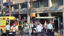 זירת הפיגוע ברחוב אחוזה בעיר רעננה צילום דוברות מדא עיבוד שולי סונגו©