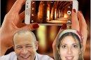 דר' הילה לוינשטיין-ברקאי ודר' אזי לב-און בית ספר לתקשורת של אוניברסיטת אריאל בשומרון ברקע: סמארטפון
