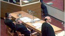 נאום התביעה של גדעון האוזנר, שפתח את משפט אדולף אייכמן, שפעל לחיסול יהודי אירופה   צילום: ארכיון גנזך המדינה   עיבוד: שולי סונגו ©