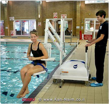 בריכת שחייה בחוץ לארץ עם מודעות לדרישות הנגישות | צילום: ארכיונעים | עיבוד: שולי סונגו ©