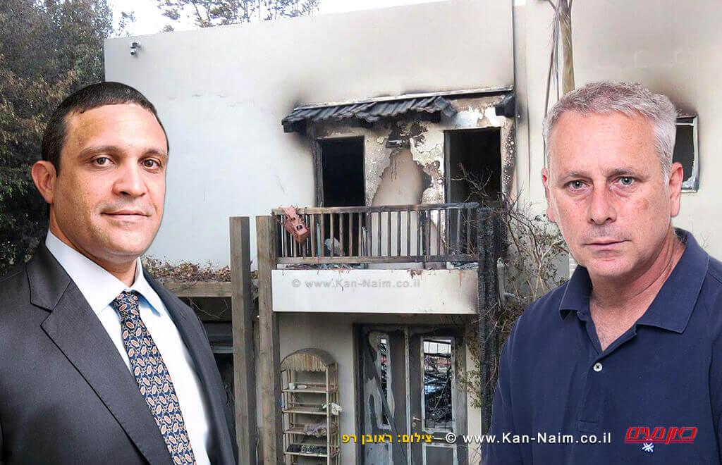"""נזקי השריפה רק במושבה זכרון יעקב, כ-50 מיליון ₪ערן סיב ו-עו""""ד חיים מסילתי   צילום: ראובן רפ"""
