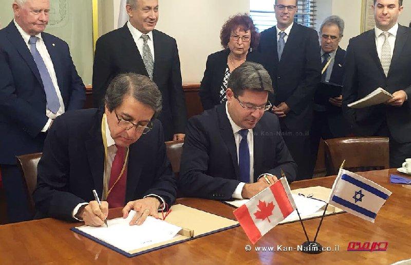 משרד המדע חתם הסכם שתוף פעולה מדעי לקידום המחקר עם קנדה