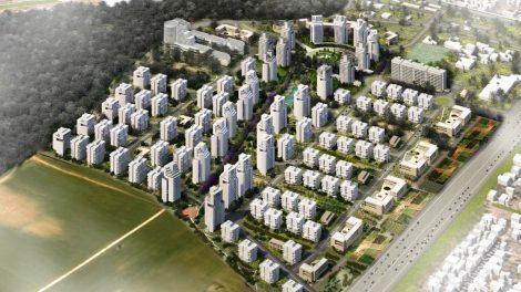 אושרה תכנית לשכונה חדשה בת 3500 יחידות דיור בעיר חדרה   הדמיה