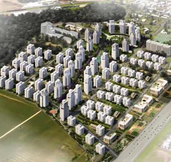 אושרה תכנית לשכונה חדשה בת 3500 יחידות דיור בעיר חדרה | הדמיה