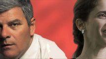 חברת מועצת העיר חדרה, שירלי עודד-דורן, וראש עיריית חדרה צביקה גנדלמן: המטמנה מסריחה מהראש