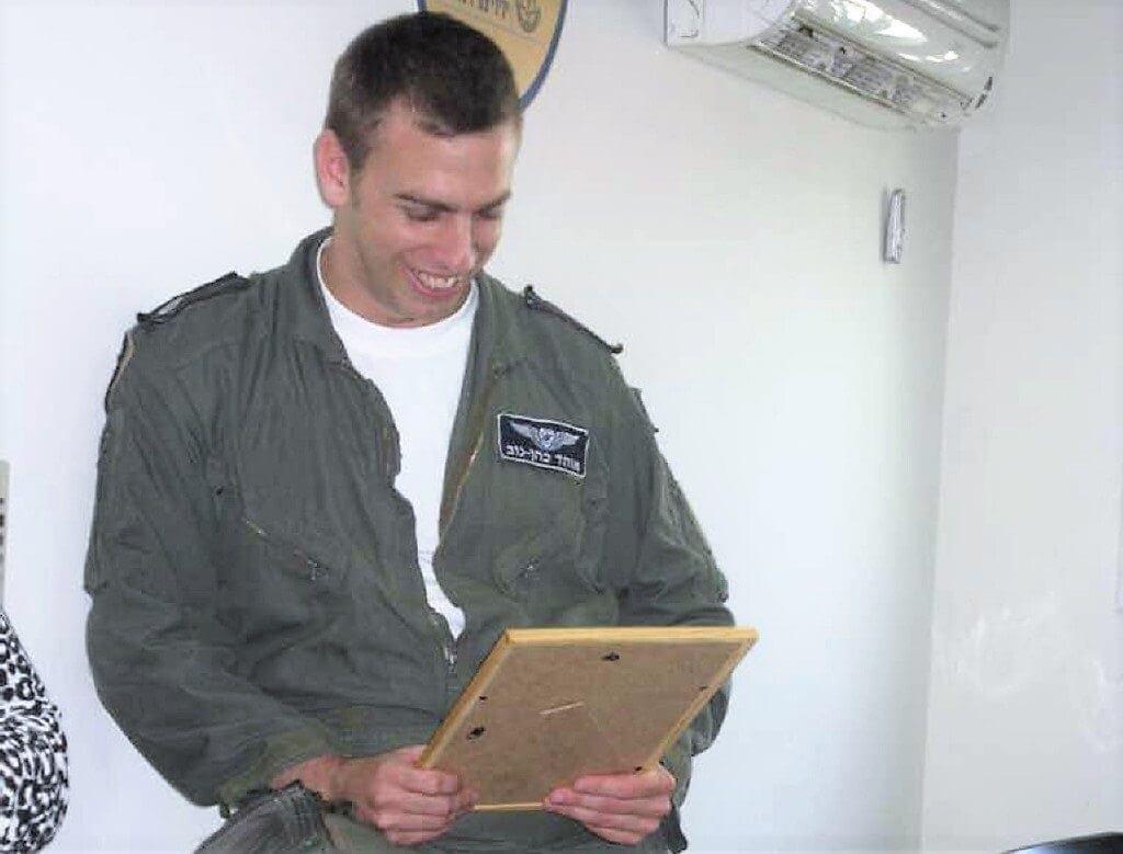 רב-סרן אוהד כהן נוב זכרו לברכה, שנספה בתאונת 'מטוס הסופה' לפי 4 חודשים בבסיס רמון
