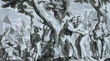 יתרו מגיע עם ציפורה וילדיה לפגוש את משה ובני ישראל, ומציע למשה לשים שופטים שיפחיתו ממנו את נטל ההנהגה | צילום: ויקיפדיה