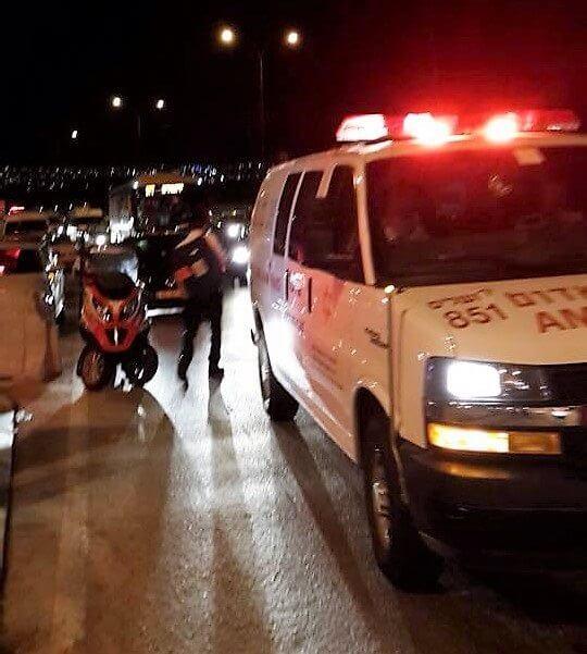 תאונת דרכים בין שני כלי רכב סמוך למחלף דרור לכיוון תל מונד   הדמייה