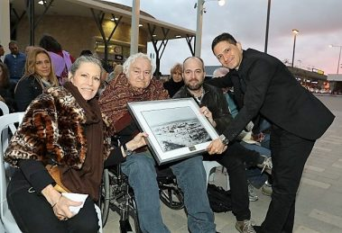 בבאר שבע הוצב פיסול עוצמה של האמן יגאל תומרקין הבינלאומי במעמד ראש העיר מר דנילוביץ'