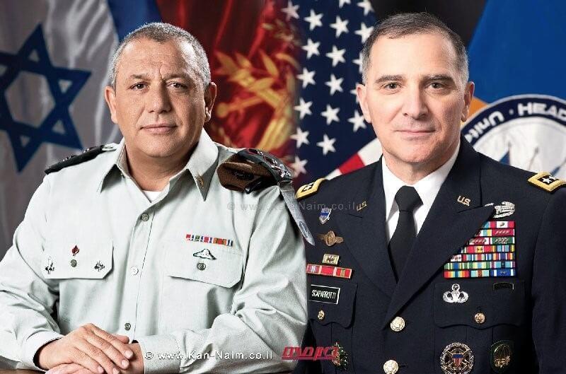 מפקד הפיקוד האירופי של צבא ארצות הברית, הגנרל קרטיס מ. סקאפרוטי אורח אורח הרמטכל איזנקוט גדי