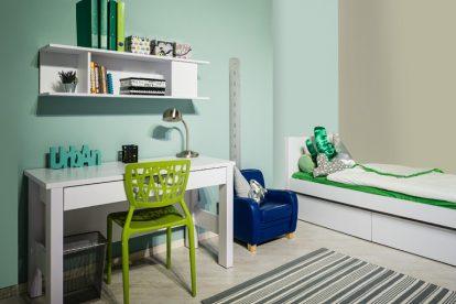 רהיטי דורון, חדר נוער עדי, מחיר; 4409 ₪, כולל ארון 1760 ₪, שולחן וכוורת 1200, מיטה עם מגרות 1650 ₪ | צילום: איתי סיקולסקי