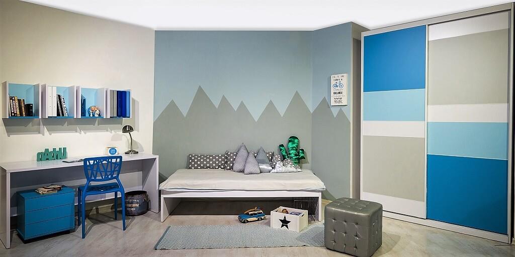 רהיטי דורון, חדר נוער גל, מחיר; 3899 ₪, כולל ארון 1800 ₪, שולחן עם שידה וכוורת 1500₪, מיטה 800 ₪ | צילום: איתי סיקולסקי