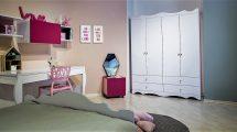 רהיטי דורון, חדר פרינסס, מחיר 6339 ₪, כולל ארון 2350 ₪, שולחן וכוורת 1590 ₪, מיטה 2200 ₪, שידה 400 ₪ | צילום: איתי סיקולסקי