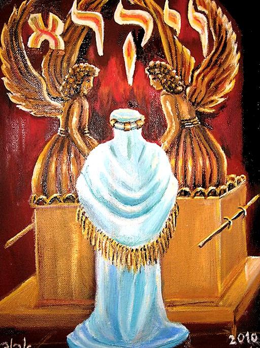 ה' קורא למשה מבין הכרובים/ ציירה: אהובה קליין (c)