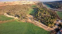 רשות העתיקות: דרך בת 2,000 שנה נחשפה באזור בית שמש | חברת גריפין צילום אוירי באדיבות רשות העתיקות