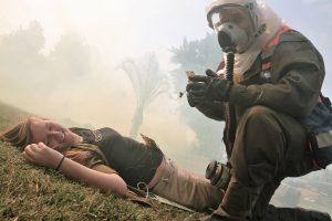 תרגיל של פיקוד העורף נגד נפילת טיל עם ראש קרבי בלתי קונבנציונלי | צילום ארכיון: ויקיפדיה