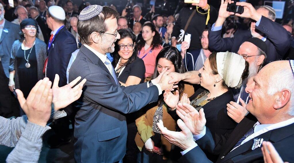 משה פייגלין, מתקבל באהדה בועידת מפלגת זהות הראשונה שנפתחה אמש בהצלחה | צילום: פלג אלקלעי