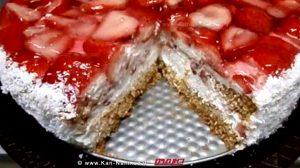 עוגת קצפת ותותים משגעת כשרה לחג פסח   צילום: מטבח בקלי-קלות   ליהי לולו קרויץ
