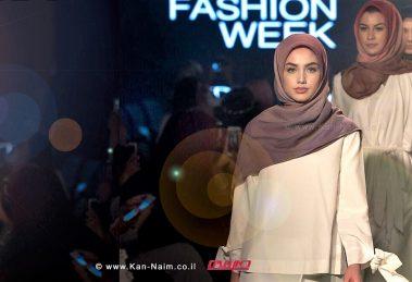 הדוגמנית חלימה עדן (Halima Aden) בשבוע האופנה הצנוע של Modanisa בלונדון   עיבוד צילום: שולי סונגו©