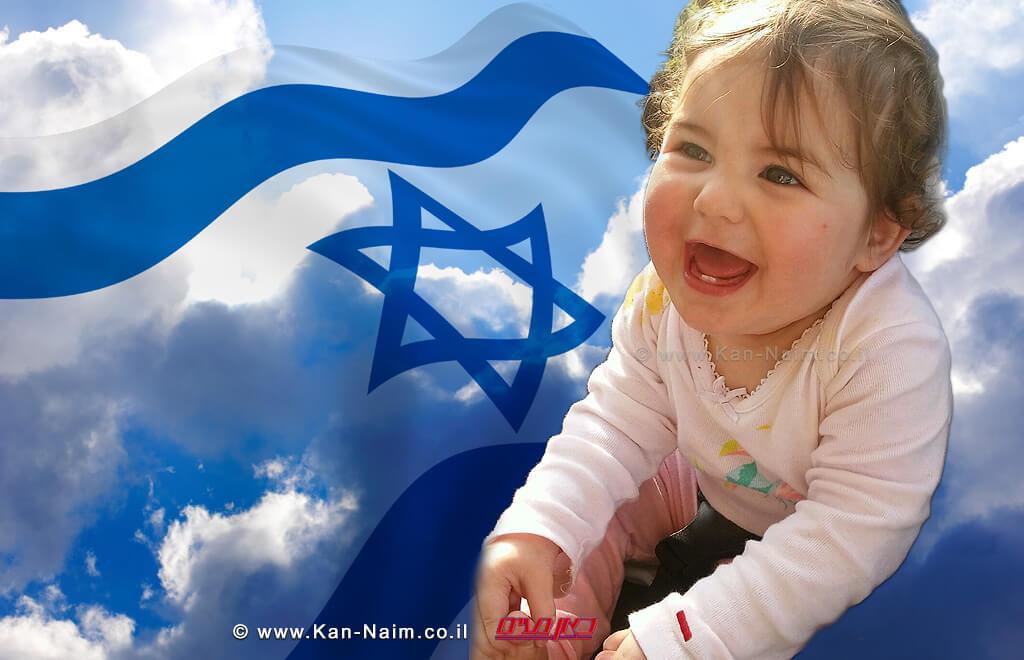 בתקופה זו נולדו בישראל כ-174 אלף תינוקות | בצילום: אוריאן (רייצ'ל) נעים, בת 9.5 חודשים | צילום: נטע נעים | עיבוד: משה נעים ©