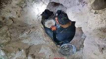אחד משלושת שודדי העתיקות מדבוריהשנלכד ביער בית קשת בגליל התחתון |צילום: היחידה למניעת שוד, רשות העתיקות.