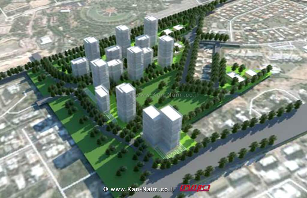 התכנית שהופקדה בוועדה המחוזית חיפה ל-1008 יחידות דיור של מנהל רשות מקרקעי ישראל במתחם האצטדיון קרית ים