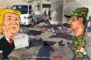 מי הרוויח | Cui bono - בשאר אסד או דונלד טראמפ ברקע: הנרצחים בנשק כימי אידליב| קריקטורה בשאר אסד, עם מינויו לנשיא סוריה 2000, מאת רענן לוריא