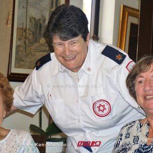 """יפה קופלוביץ, סוזן אדל ו-זהבה רוט ממד""""א במפגש איחוד המשפחות שאורגן על ידי היחידה לאיתור קרובים"""