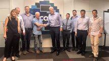 אנשי - חברת EnerPoint וחברת Cal במעמד החתימה להסכם למימון מערכות סולאריות ב-150 מיליון ₪ | יחצ, עיבוד צילום: שולי סונגו©
