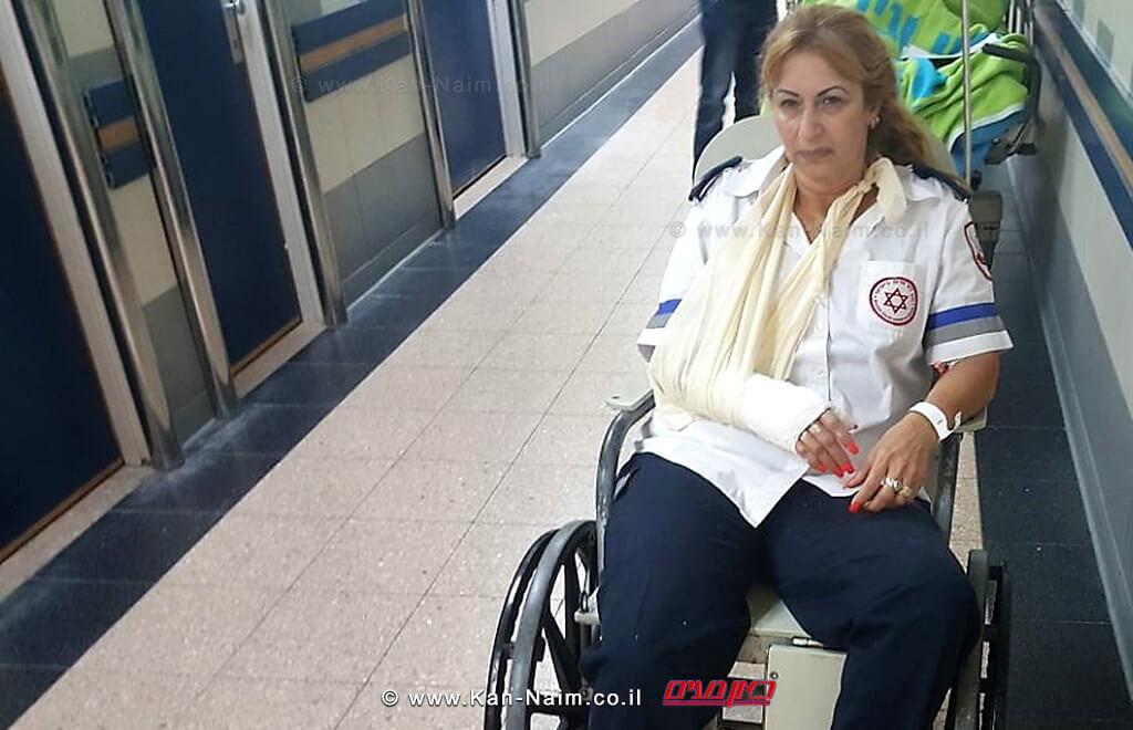 חובשת מגן דוד אדום שהותקפה שרה ישראלי | צילום: דוברות מדא