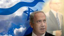 ראש הממשלה מר בנימין נתניהו ברק: דגל ישראל וראש הממשלה מנחם בגין, אבי המהפך הפוליטי בבחירות בשנת 1977 | עיבוד צילום: שולי סונגו©