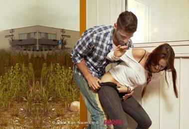 גבר מנסה לאנוס צעירה ליד הבית   אילוסטרציה   עיבוד צילום: שולי סונגו ©