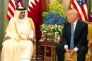 הנשיא דונלד טראמפ ואמיר של קטאר, שייח 'תמים בן חמד אל-תני