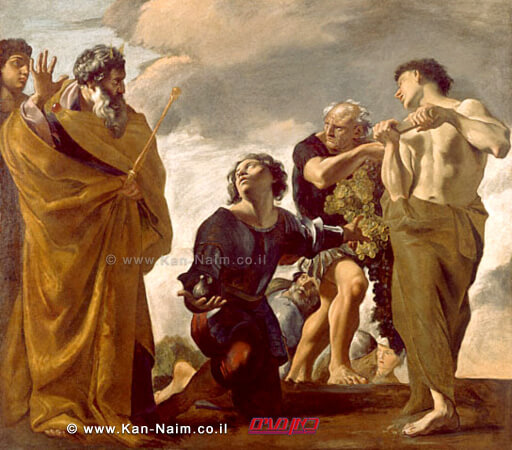 משה מקבל את פני המרגלים, שנת 1621 לערך