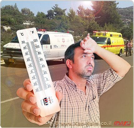 מנגנון ההזעה אינו יעיל, וטמפרטורת הגוף עולה במהירות, לעתים מעל - 41 C° תוך רבע שעה (!).