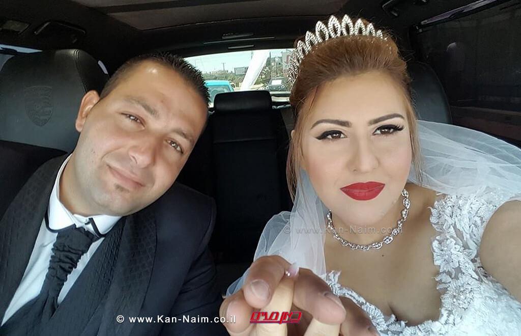 איה חאדיד מדליית אל כרמל עם בעלה אמין מלאקביום נישואיהם| עיבוד: שולי סונגו ©