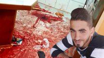 המחבל-חיית אדם עומר אל-עבד אשר טבח ב-3 בני משפחה בישוב חלמיש | רקע דמם של הנרצחים | עיבוד ממחושב: שולי סונגו ©