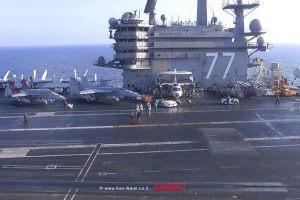 צהל מארח נושאת המטוסים USS George H.W. Bush של הצבא האמריקאי |צילום: דוץ |עיבוד צילום: שולי סונגו ©