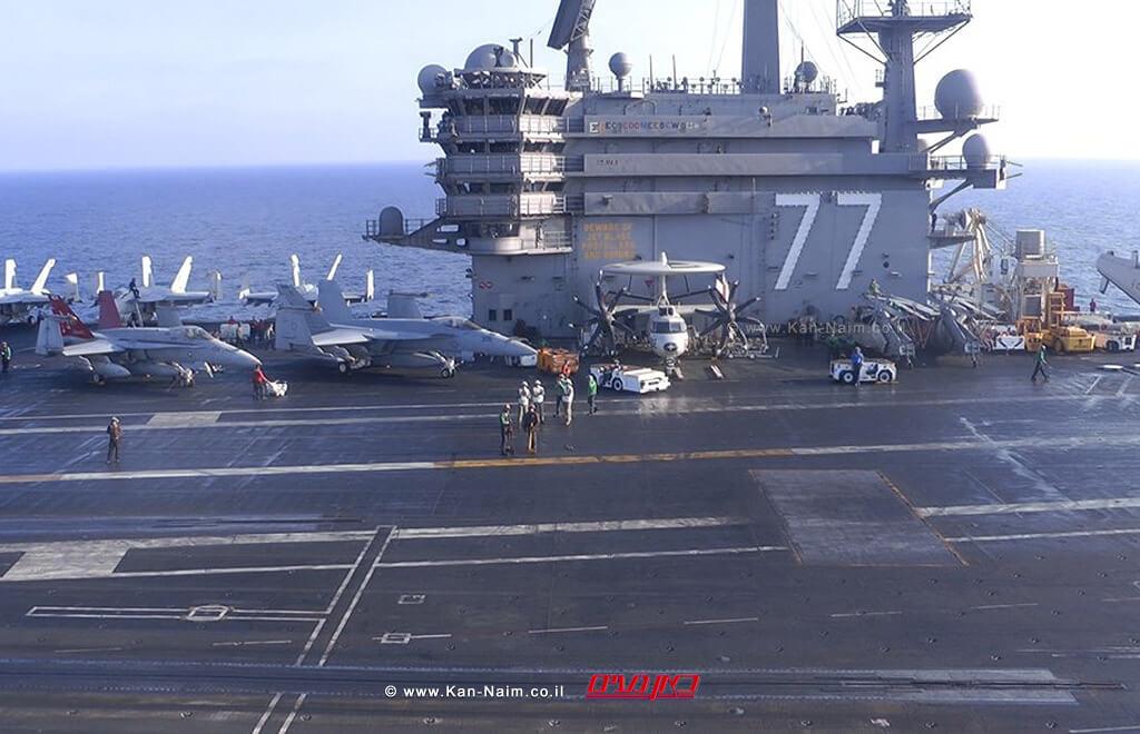 צהל מארח נושאת המטוסים USS George H.W. Bush של הצבא האמריקאי  צילום: דוץ  עיבוד צילום: שולי סונגו ©