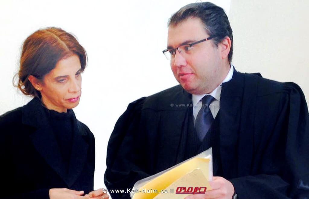 עורך דין אדיר בנימיני ממשרד דוידוב-בנימיני ושות' עם חברת מועצת עיריית חדרה שירלי עודד