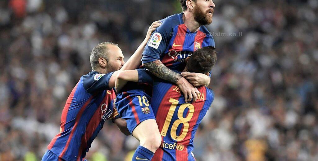 ליונל מסי, הכדורגלן ארגנטינאי המשחק בעמדות החלוץ והקיצוני הימני בקבוצת ברצלונה חוגג הבקעת שער בליגה | צילום: רדאד ג'בארה, ONE | עיבוד צילום: שולי סונגו ©