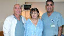 עובדים מהקרדיולוגיה בבית חולים כרמל הצילו חייה של אודליה   צילום: אלי דדון