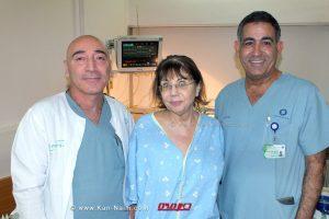 עובדים מהקרדיולוגיה בבית חולים כרמל הצילו חייה של אודליה | צילום: אלי דדון